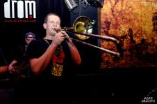 Trombone solo during a PhillyBloco show at Drom in New York City.