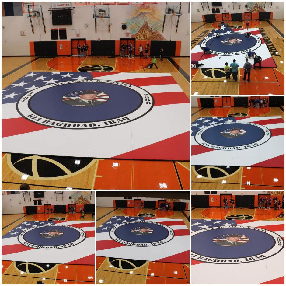 Wrestling Mat at Rainier High School
