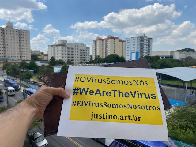 Série: #OVírusSomosNós, Justino, 2020.