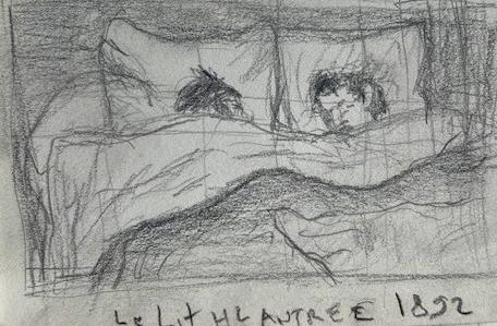 Le Lit, Lautrec, Musée d'Orsay, Justino, lápis, 2017.