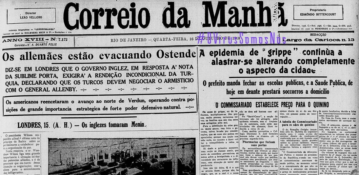 OViorusCorreioDaManha1918, Justino, 2020.