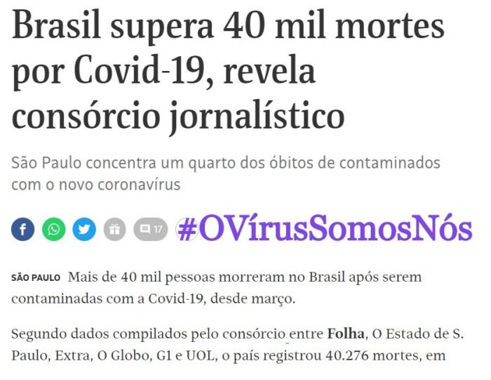 #OVírusSomosNós: Isso não pode estar acontecendo – VOLUME 2