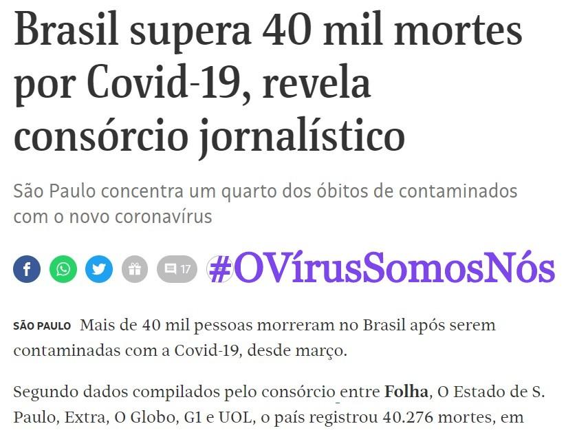 Brasil40MilMortes, Justino, Digital, 2020.
