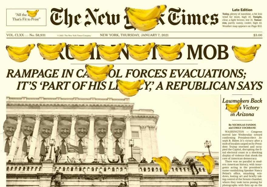 """""""New Banana Times"""", Justino, Digital, 2021."""