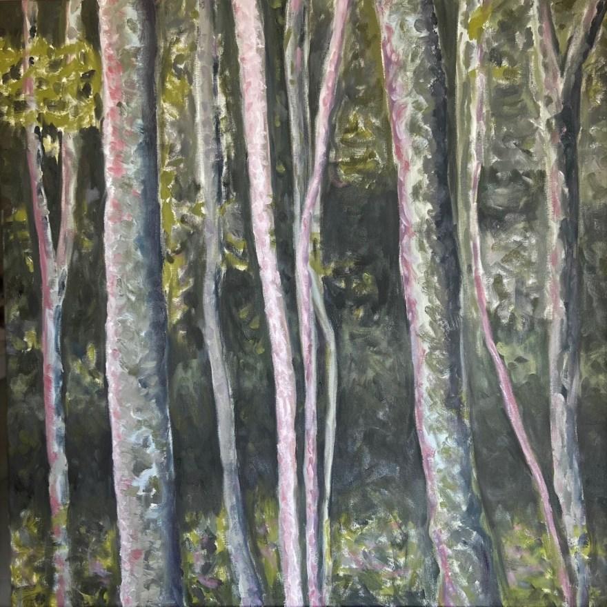 Mantiqueira: Começo, Meio e Fim - Parte 7, Justino, óleo em tela, 80 x 80 cm, 2021.