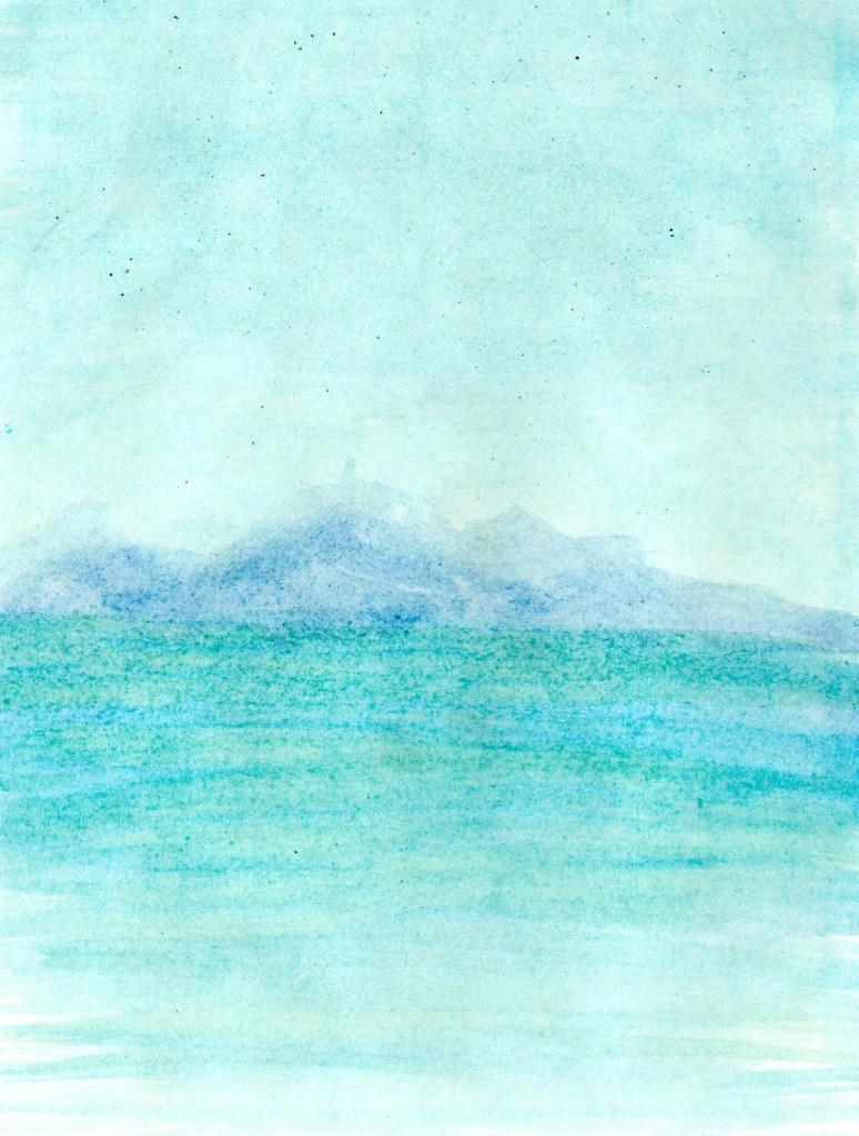 Marinhas - in litore maris (H) 2021 Aquarela s/ papel, 16 cm x 14 cm