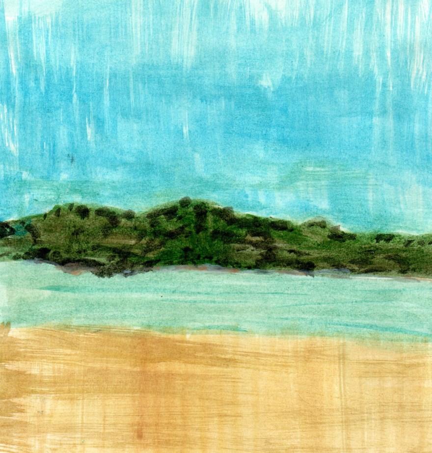 Marinhas - in litore maris (J) 2021 Aquarela s/ papel, 16 cm x 14 cm