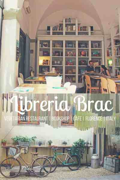 Libreria Brac, Florence, Italy - It's a vegetarian restaurant, bookshop, cafe, and bar in a quiet space!