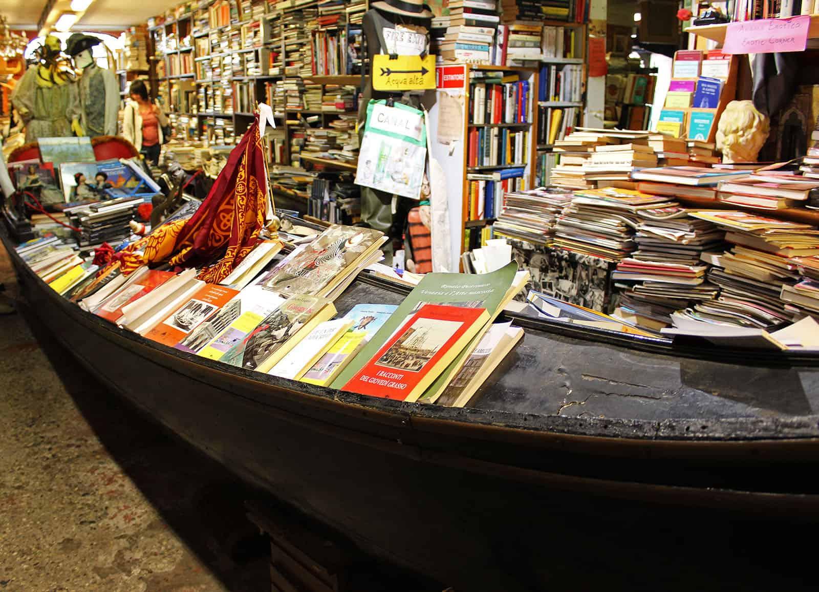 Libreria Acqua Alta Bookstore in Venice
