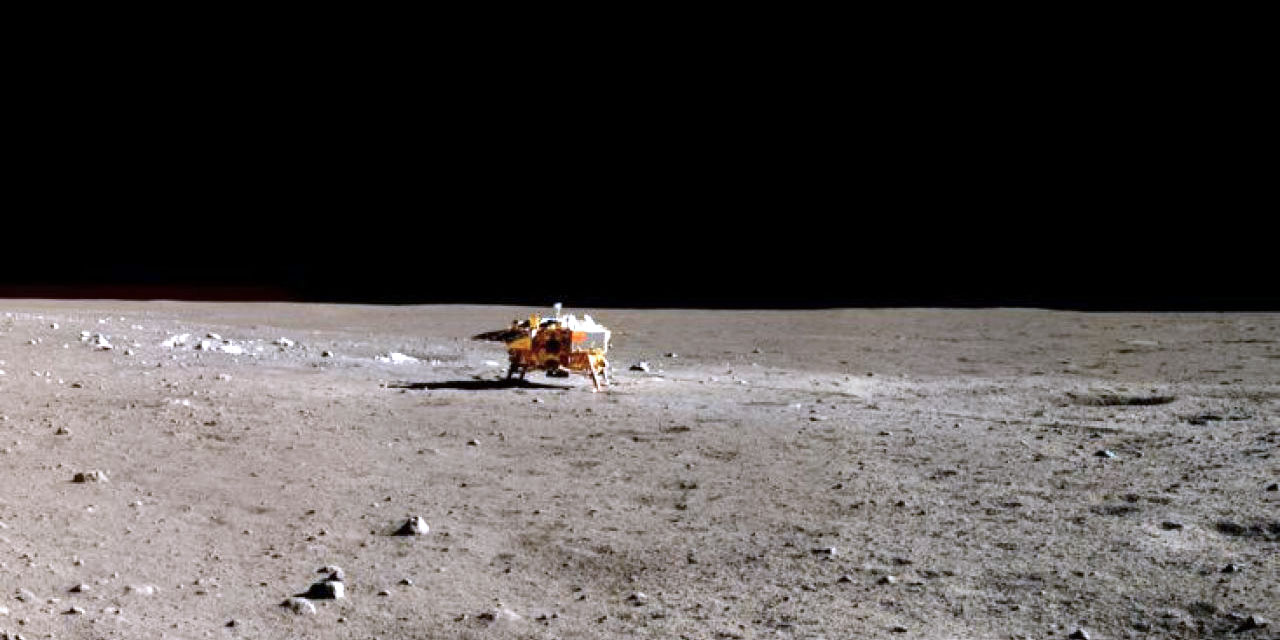 China's Chang'e 3 lander on the lunar surface