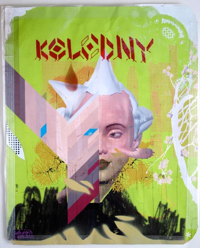 Mixed Media Illustration Portrait of Kolodny aka Molly Millions from Neuromancer