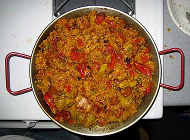 Paella in a pan  Justinsomnia