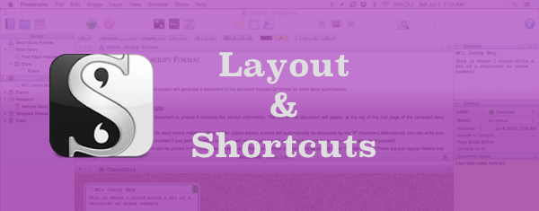 Scrivener Layout and Shortcuts Explained