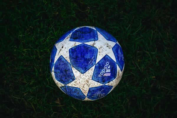 blue soccer ball