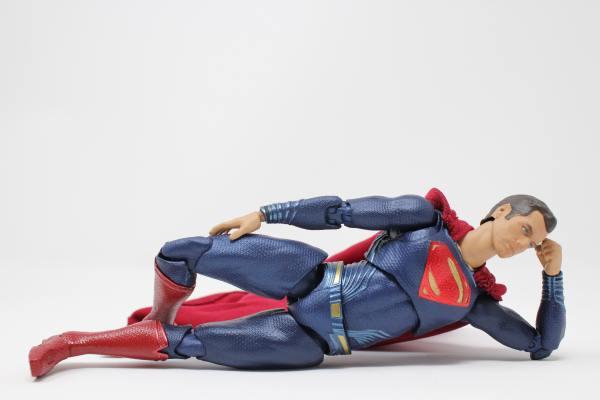 Superman side plank