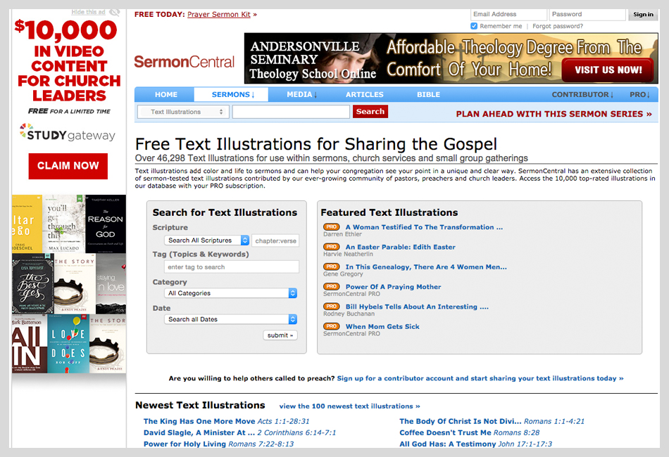 24 of the best places to get sermon illustrations – justin trapp, Powerpoint templates