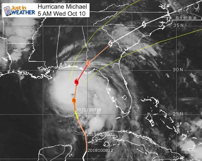 Hurricane Michael 140 Mph Winds Cat 4 Strongest To Hit Fl