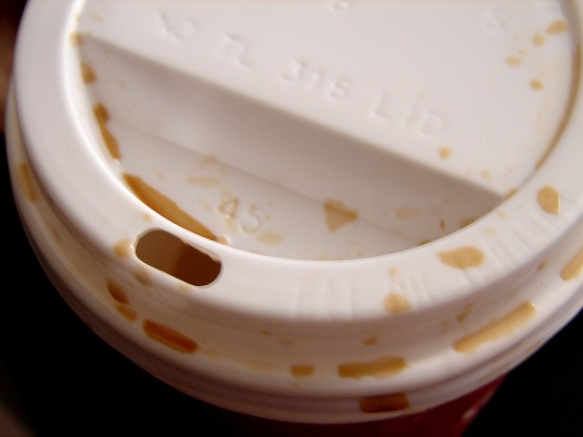 useless coffee cup lid