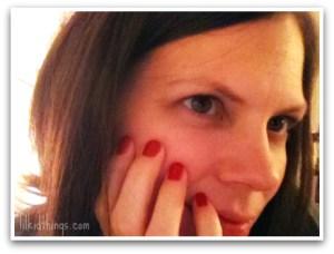 Andrea Upduke, red nail polish, lilkidthings,