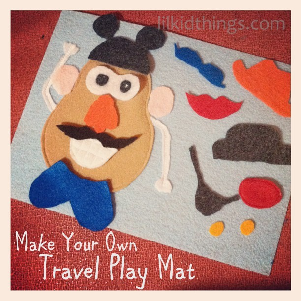 mr potato head felt template - diy mr potato head play mat for quiet books and travel