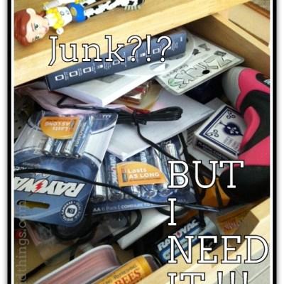 Junk in the trunk…er…drawer {#vlogmom}