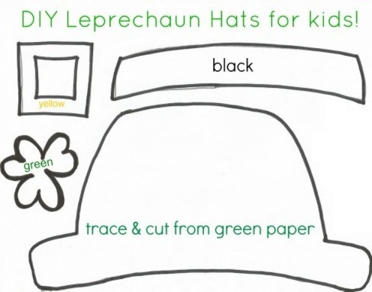 St patrick 39 s day crafts for kids free printable for Leprechaun hat template printable