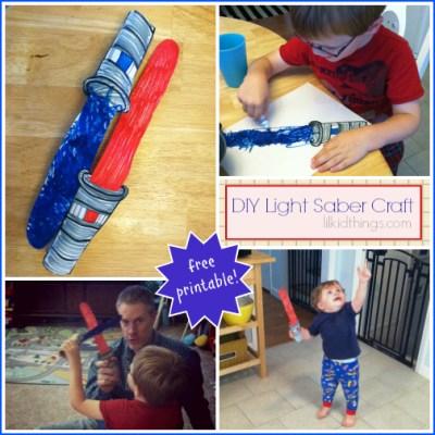 Make your own light saber! {free printable}