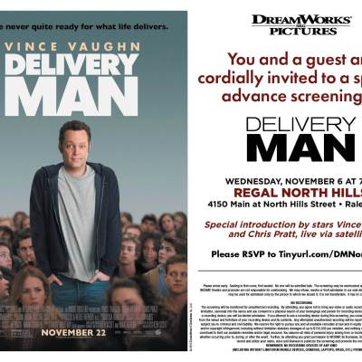 Free Delivery Man movie screening 11/6 in Raleigh!