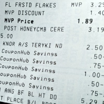 coupon reciept