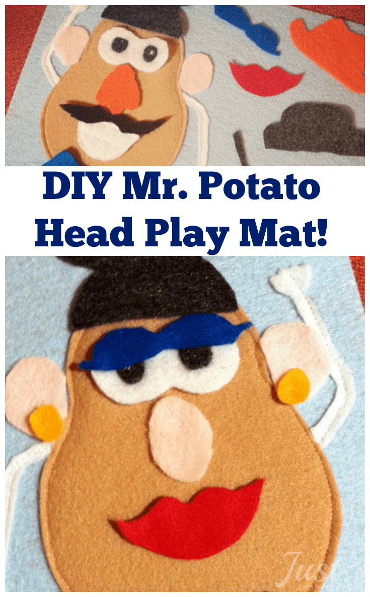 This little felt Mr. Potato Head play mat craft is a great quiet book project for travel or whenever you need to keep little hands (quietly) occupied. We took it on a road trip to Disney World and my son loved it!