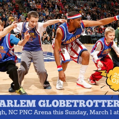 Harlem Globetrotters return to Raleigh on Sunday, March 1st!