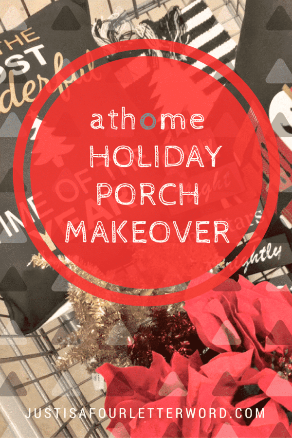 After our holiday front porch makeover was finished, the porch became my favorite room in the house! Christmas at home is so warm and inviting now!