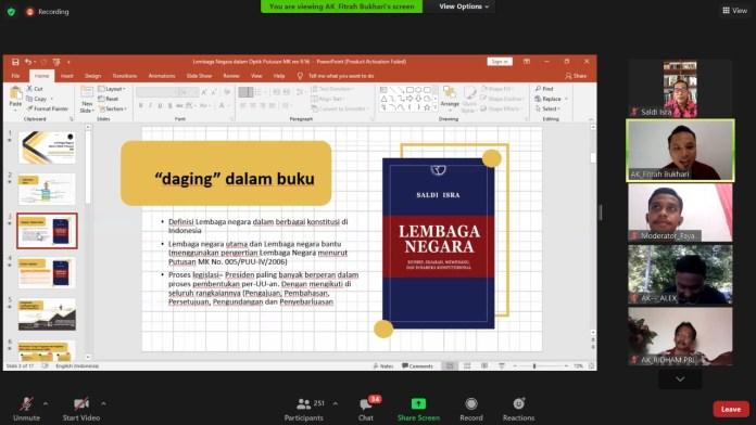 Bedah Buku Lembaga Negara Karya Hakim MK : Apa yang Membuat Buku ini Berbeda?