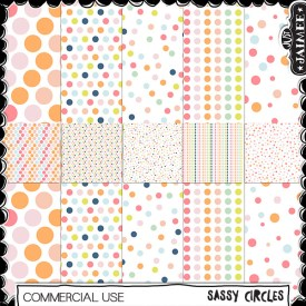 Digital Scrapbooking Commercial Use - Sassy Circle Patts