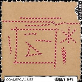 Digital Scrapbooking Commercial Use - Skinny Tape