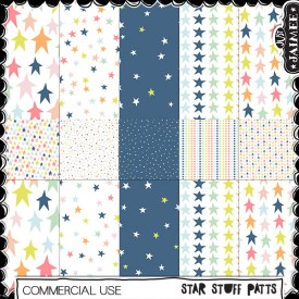 Digital Scrapbooking Commercial Use - Star Stuff Patts