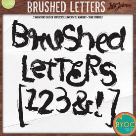 Digital Scrapbooking - Brushed Letters