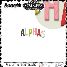 Digital Scrapbooking - Real Life in Pockets - Candid Alphas