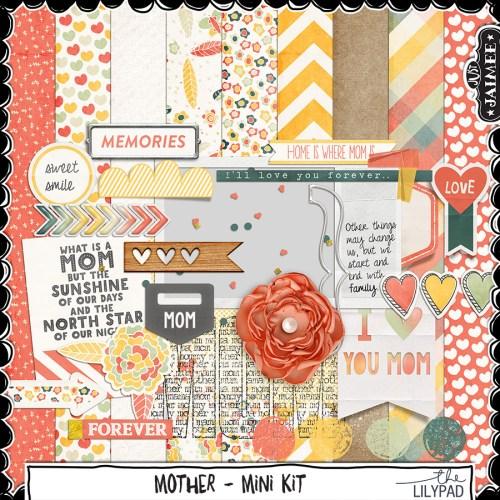 Digital Scrapbooking - Mother - Mini Kit