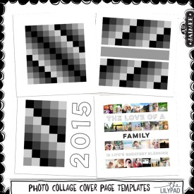 Digital Scrapbooking - Photo Collage Cover Page Templates