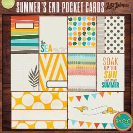 Digital Scrapbooking - Summer's End Pocket / Journal Cards