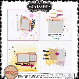 Digital Scrapbooking - BYOC October 2014 - Painted Templates