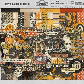 Digital Scrapbooking - Happy Haunt Halloween Digital Kit
