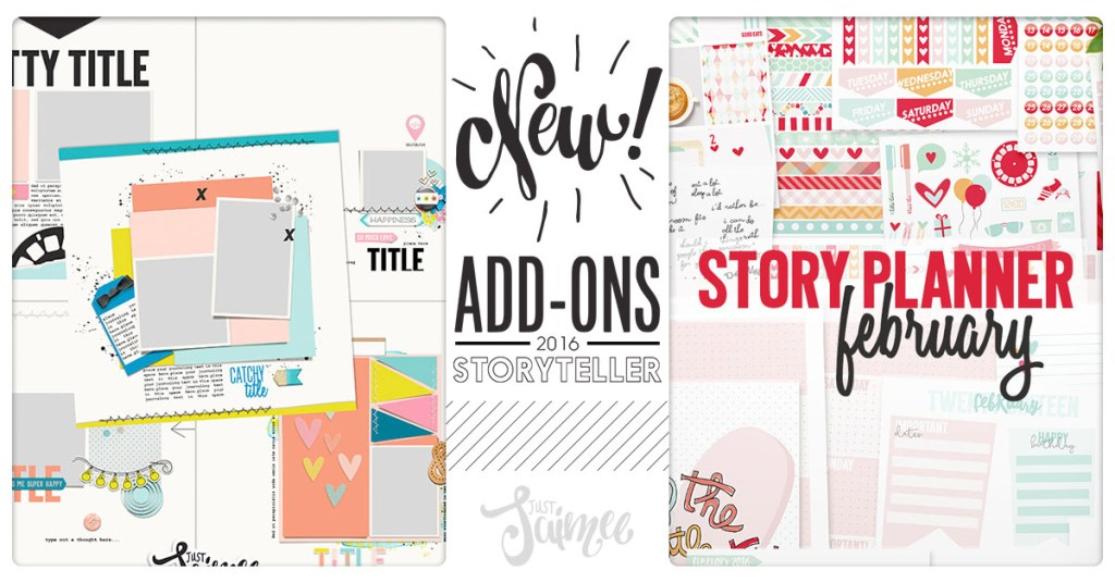 february story planner kit s and sketched templates