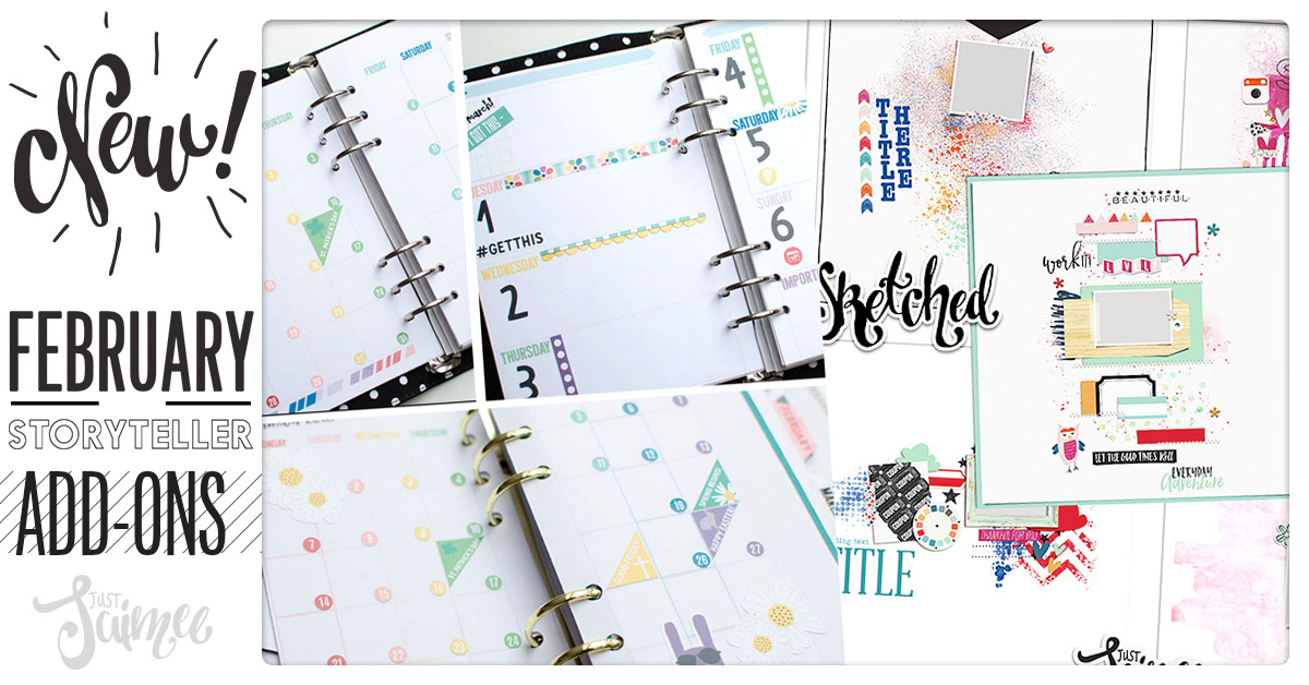 Story Planner March Sketched Templates