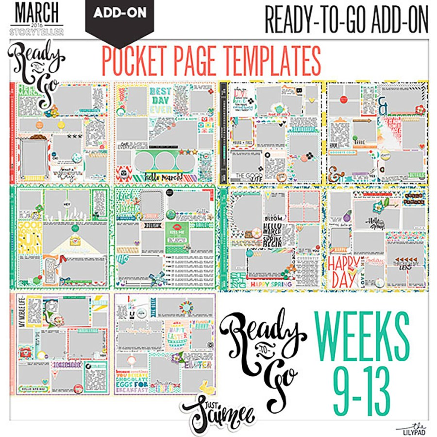 Ready To Go Pocket Page Templates Weeks 9 to 13