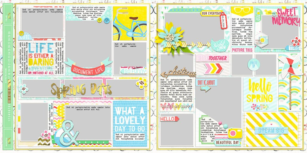 Ready To Go Pocket Page Templates 2