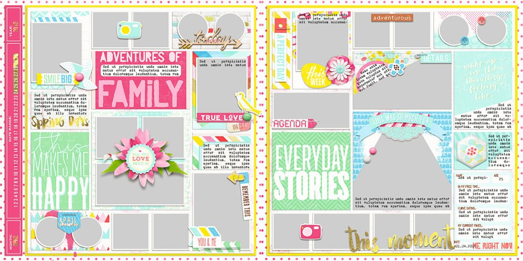 Ready To Go Pocket Page Templates 4