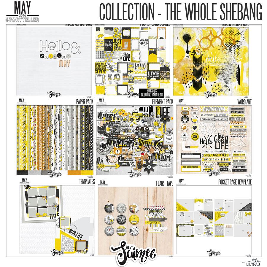 Digital Scrapbook Kit Subscription May
