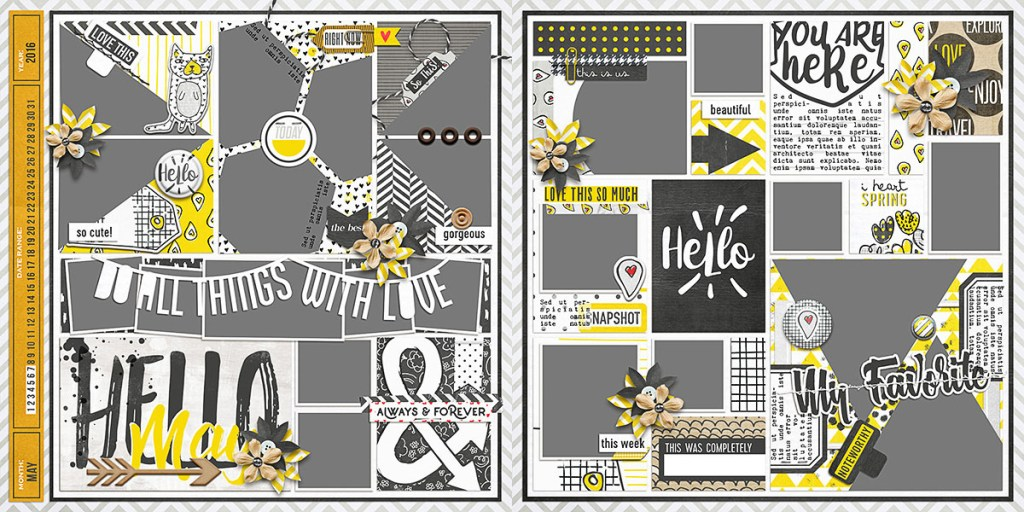May Ready To Go Pocket Page Templates 4